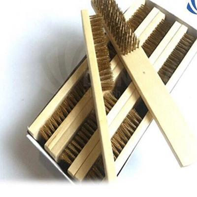 Bàn chải đồng thau can gỗ 7 hàng, bàn chải đồng thau 7B